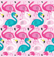 seamless pattern with beautiful flamingo vector image vector image