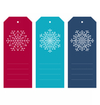 Set of christmas tags with geometric snowflakes vector image vector image