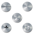 set screws and bolts vector image