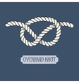 Single of nautical knot vector image vector image