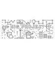 the big project line art design banner vector image