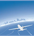 vancouver skyline flight destination vector image vector image