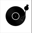 vinyl record disc flat simple concept vector image