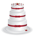 white cake vector image vector image