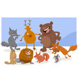 wild cartoon animal characters vector image vector image