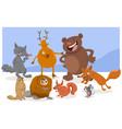 wild cartoon animal characters vector image