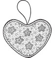 christmas decoration for christmas tree - heart vector image