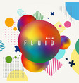 abstract of colorful gradient fluid geometric vector image vector image