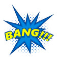 bang comic book explosion icon pop art style vector image vector image