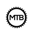 bicycle chainring mountain bike gear logo vector image
