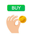 Bitcoin in hand businessman isometric design rich