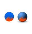 blue sphere and circle classic blue color with vector image vector image