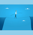 businessman balances walking vector image