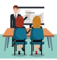 businesspeople in training process isolated icon vector image vector image