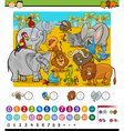 calculating game cartoon vector image vector image