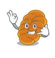 call me challah mascot cartoon style vector image vector image