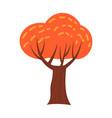 colorful autumn tree cartoon yellow orange red vector image vector image