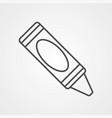 crayon icon sign symbol vector image vector image