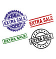 damaged textured extra sale seal stamps vector image vector image