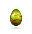 easter egg 3d icon red green color egg isolated vector image