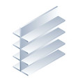 empty shelf icon isometric style vector image