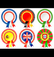european rosettes vector image vector image