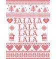 falalalalalalalala christmas song scandinavian vector image vector image