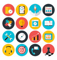Flat icons collection of web design objects vector image vector image