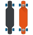 Flat of colored longboards vector image vector image
