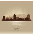 Fresno California city skyline silhouette vector image vector image