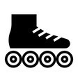 glyph beautiful roller skate shoe icon vector image vector image