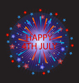 happy 4th july fireworks vector image