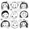 Happy kids set vector image vector image