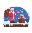 happy santa claus and rochimney vector image vector image