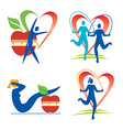Health fitness icons vector image vector image