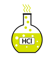 Hydrochloric acid vector image