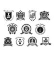 icons set for college or state university vector image