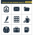 Icons set premium quality of business items vector image vector image