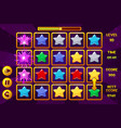 interface star match3 games multicolored stars vector image