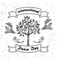 international day peace promotional poster vector image vector image