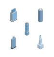 isometric skyscraper set of cityscape skyscraper vector image vector image