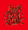little star lettering print vector image vector image