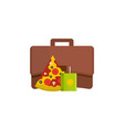 lunch icon flat style vector image vector image