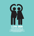 Man And Woman With Love Sign Gesture vector image vector image