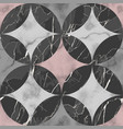 marble black white and pink luxury geometric vector image