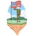 military force man design vector image