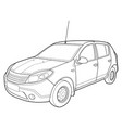 modern car technical draw vector image vector image