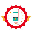 music player mp3 icon vector image