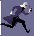 mysterywoman run vector image vector image