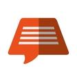 orange bubble speech dialogue talk color shadow vector image